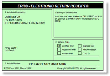 How Much Does It Cost To Mail A Certified Return Receipt Letter