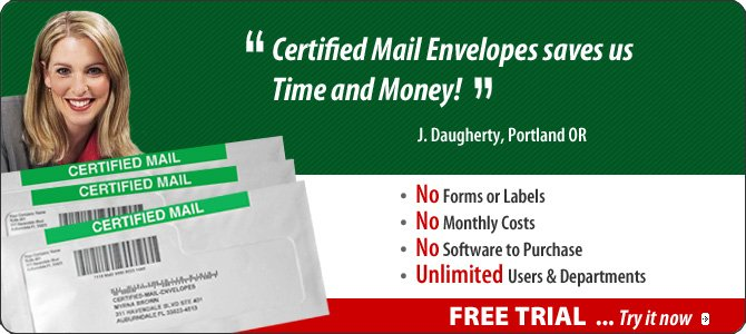 Certified Mail Envelopes approved USPS Certified Mail | Certified Mail ...