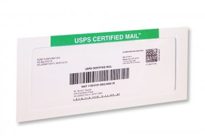 #10 Certified Mail Envelops with PCPostage