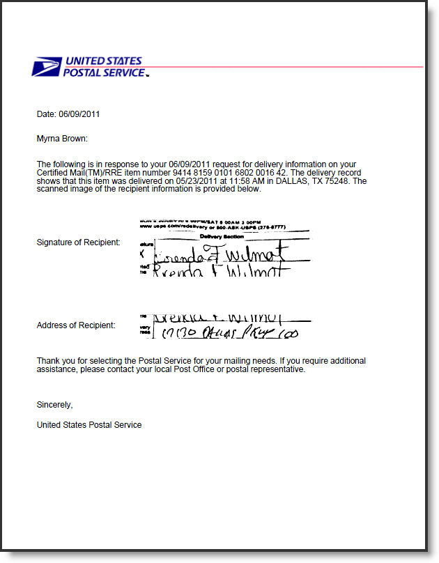 usps letter rena shinestar co