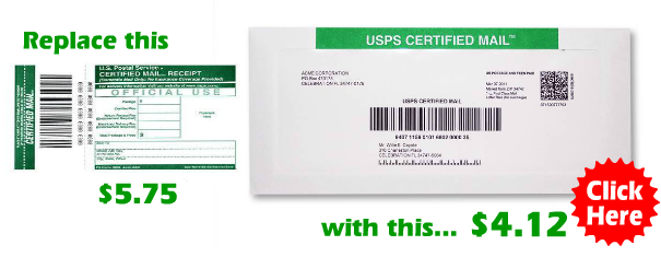 USPS Certified Mail Envelopes save time and money!